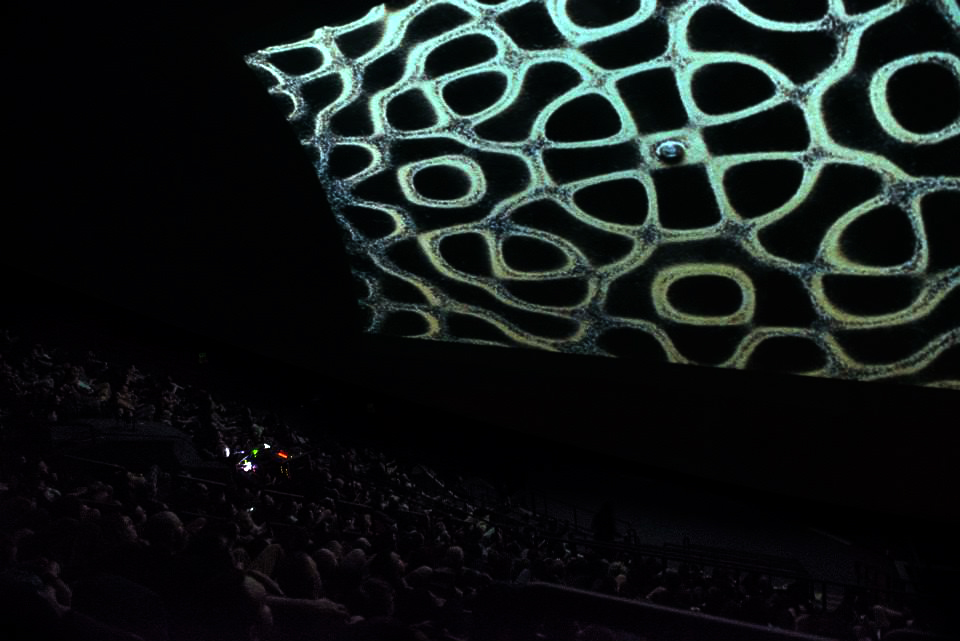 Clinker at New Forms 14, Omnimax Theatre, Vancouver, BC, 2014